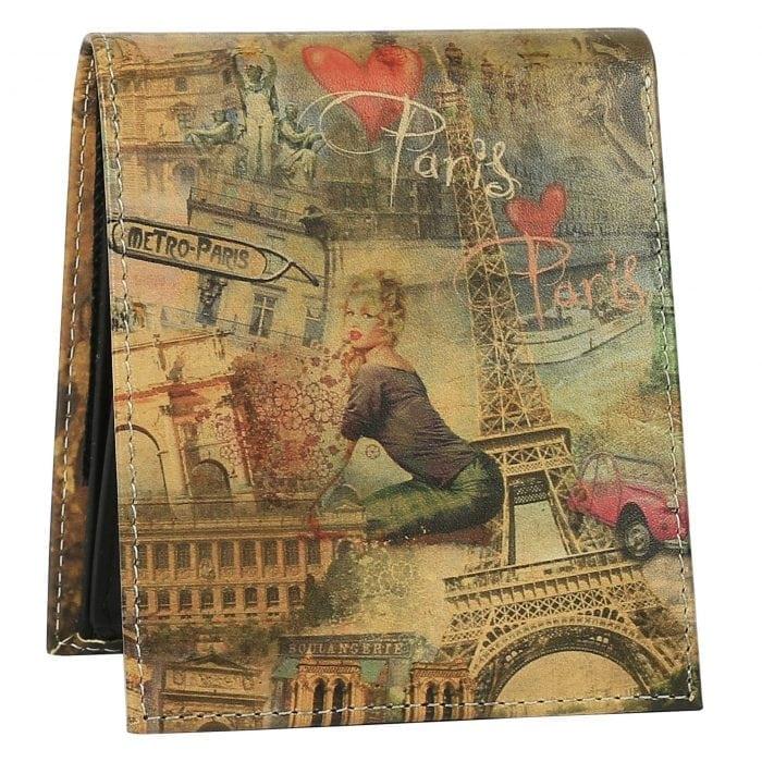 Paris Collage Mens Wallet