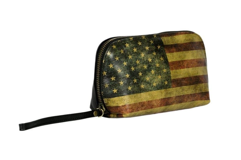 American Flag Cosmetic Bag