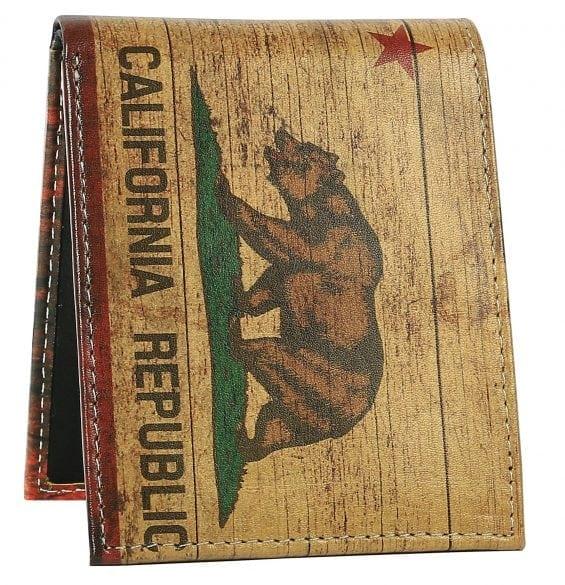 california flag mens wallet