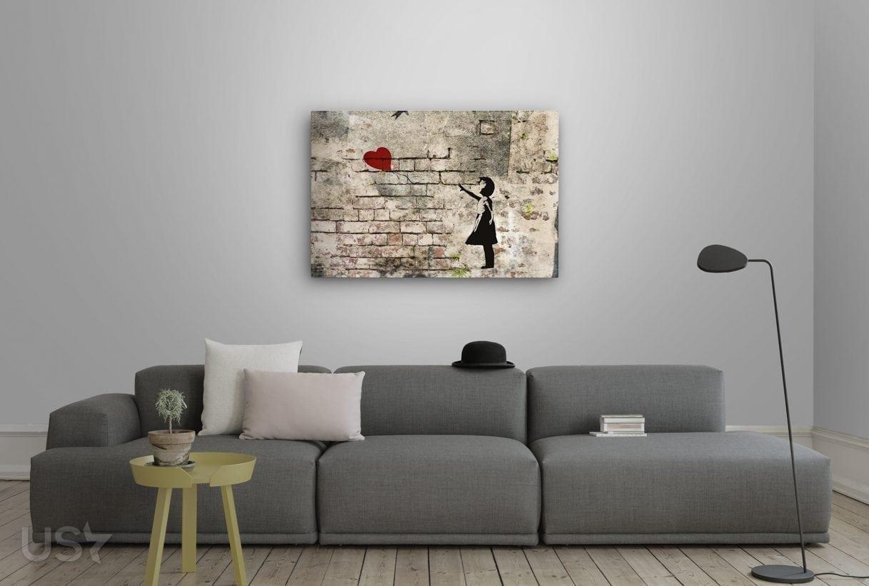 Banksy Balloon - Living Room 2