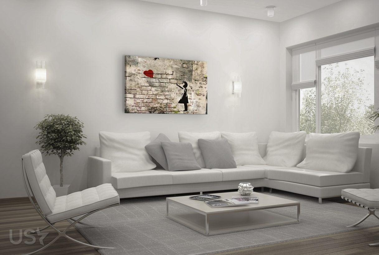 Banksy Balloon - Living Room