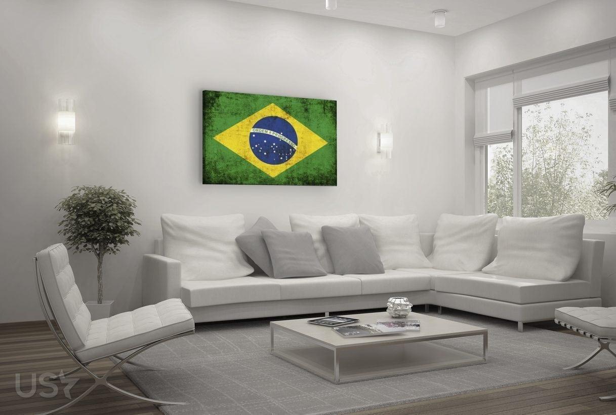Brazil Flag - Living Room