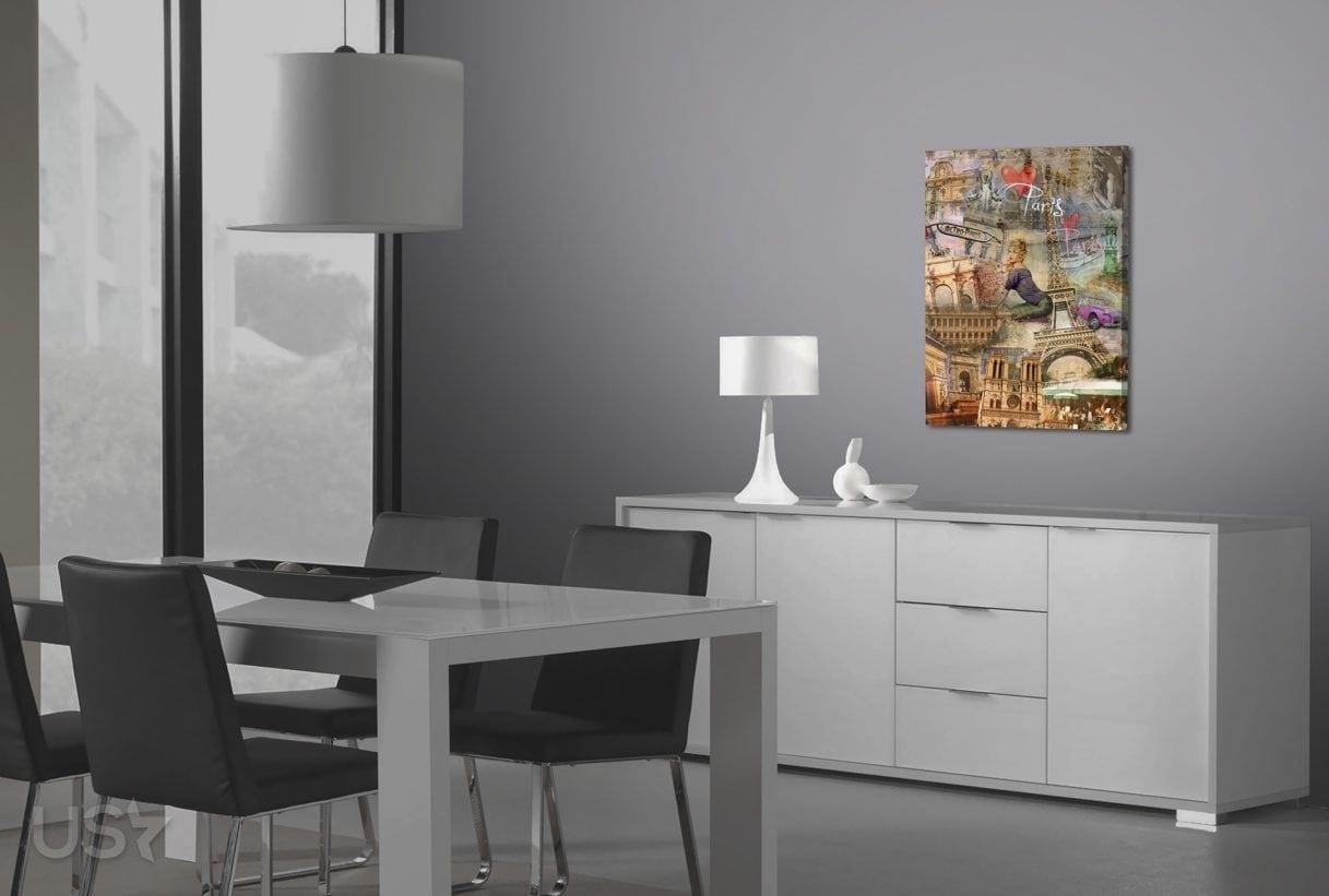 Paris Collage - Dining Area