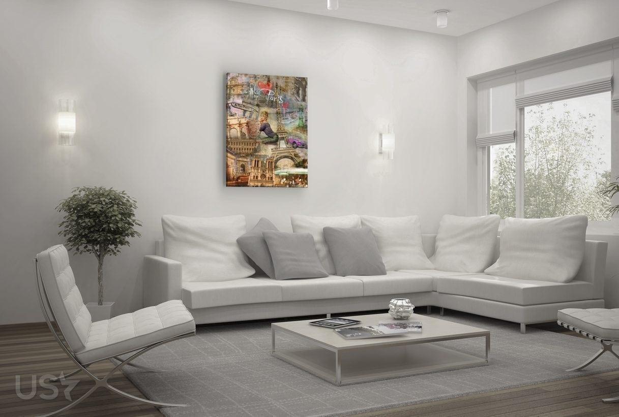 Paris Collage - Living Room