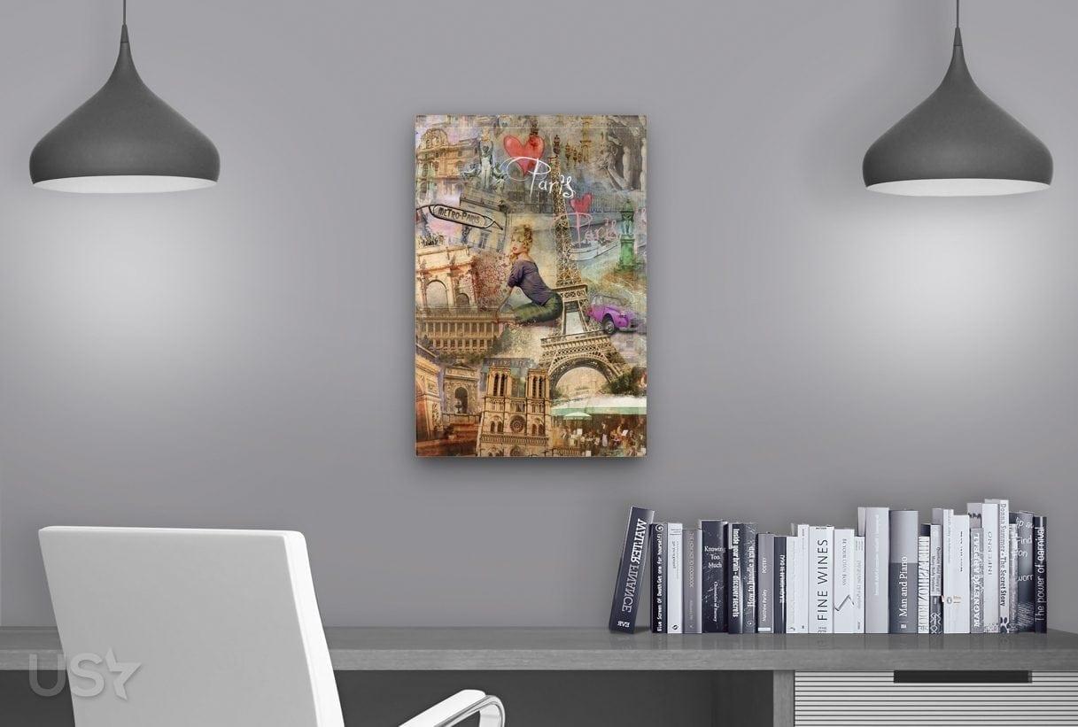 Paris Collage - Study Table