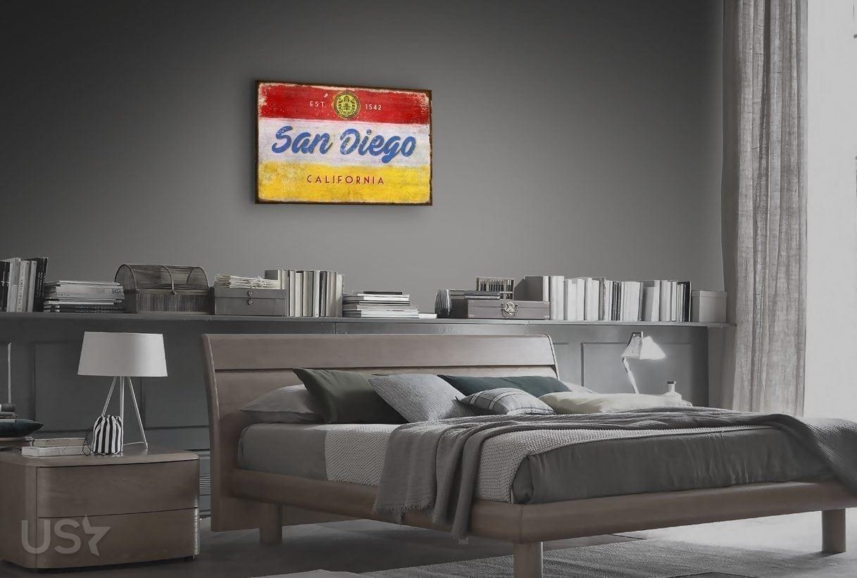 San Diego Sign - Bedroom