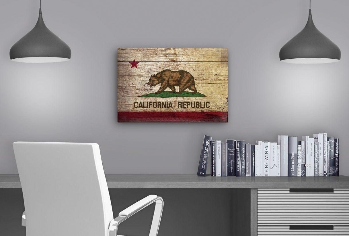 California Flag Vintage - Study Table