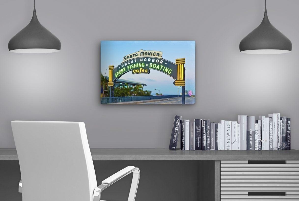 Santa Monica Pier Sign - Study Table