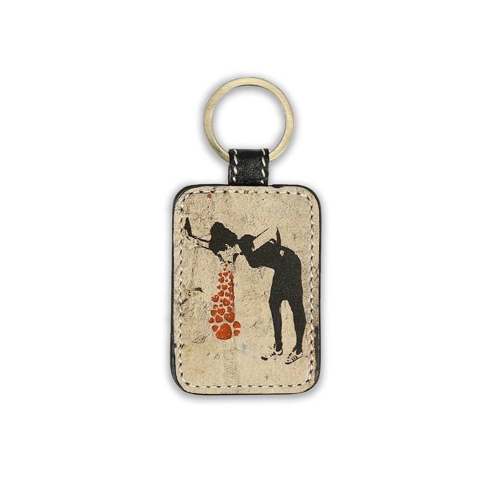 Banksy Lovesick Key Chain