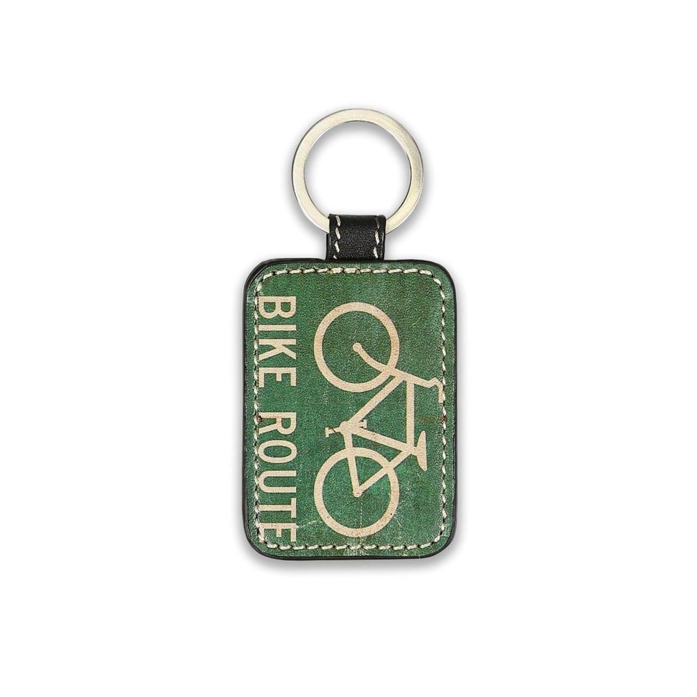 Bike Route Key Chain