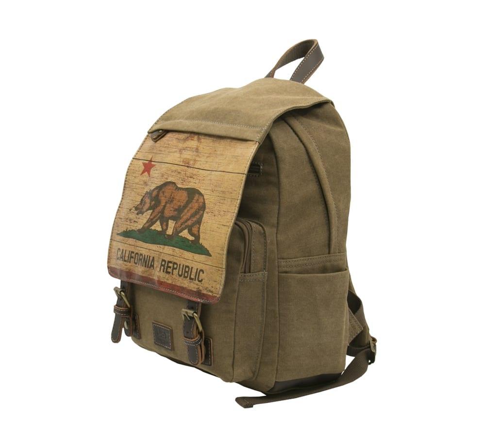 Ca flag vintage backpack