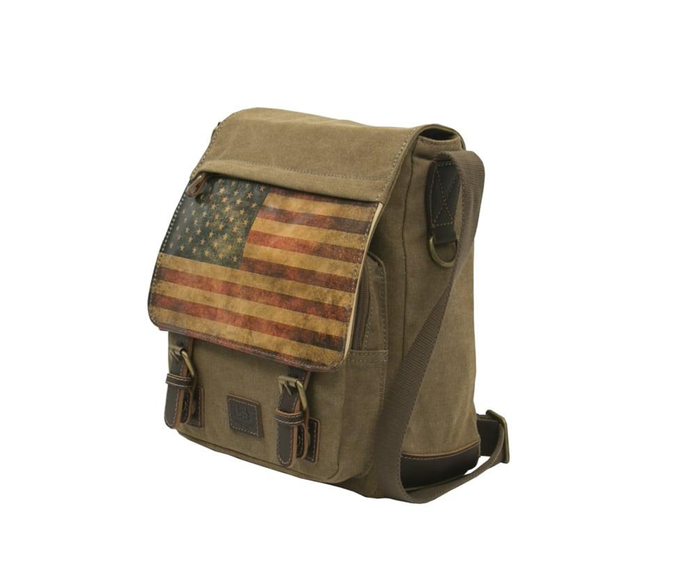 american flag leather bag