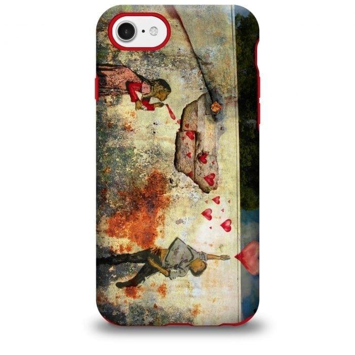Banksy Hearts iPhone Case