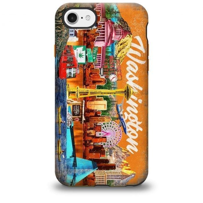 Washington Collage iPhone case
