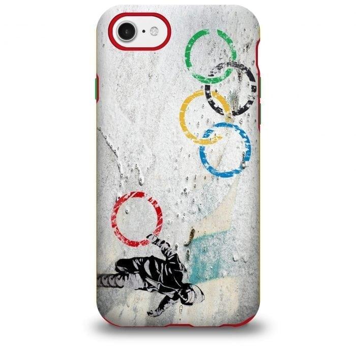 banksy olympic rings iphone case