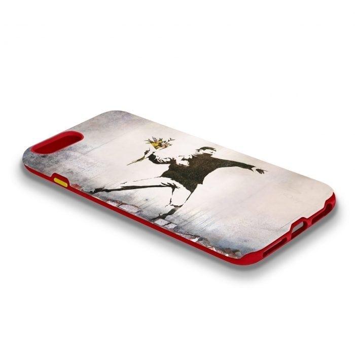 banksy flower thrower iphone case
